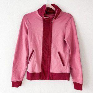 Lululemon Slalom Pink Contrast Full Zip Jacket